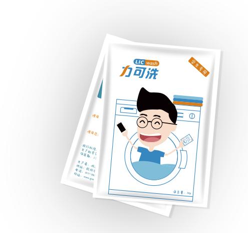 校果-滨江大学城学生宿舍区校园洗衣液包装广告