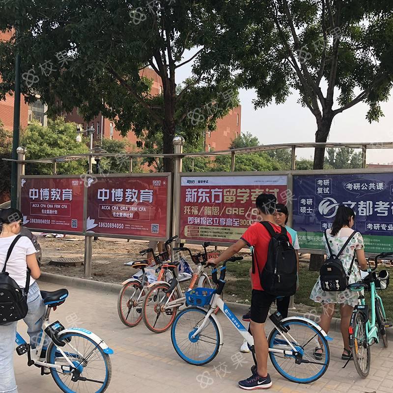 校果-上海大学-延长校区宣传栏广告